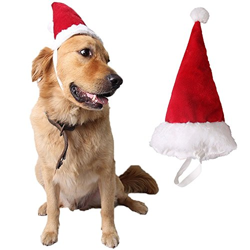 uctop Store 1PC einstellbar Haustier Hund Weihnachtsbaum Headbands Hirsch Geweih Stirnband Weihnachten Rentier Hat für Hunde Katzen Haustiere Urlaub Kostüm Zubehör