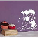 DreamKraft Sweet Friends Wall Sticker For Kids Room |Living Room|Bedroom|Office PVC Vinyl Art Decals(21X22 Inch)