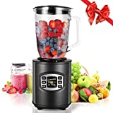 MeyKey Smoothie Maker Blender, 800W Jug Blender, 12-Speed Control Glass Jug for Shakes