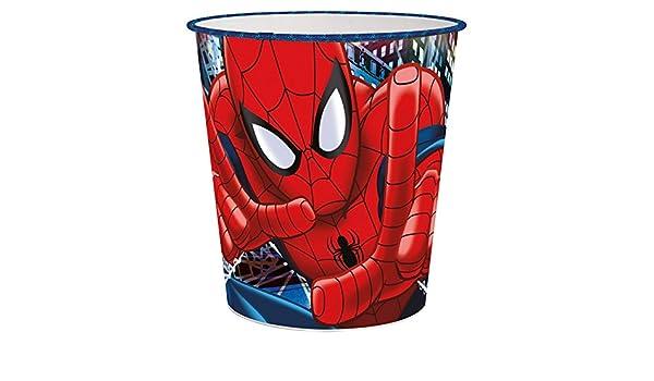 GIM39 Spiderman Kinder Papierkorb Mülleimer Abfalleimer M1