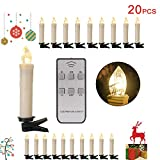 20/30/40er LED Lichterkette Kabellos Weihnachtskerzen Christbaumschmuck Weihnachtsbaumbeleuchtung 20*milchweisse Hülle