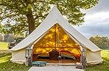 Bell Tent Boutique - Tienda de campaña de 5 metros con suelo de lona con cremallera