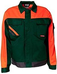 Planam Bundjacke Visline V1, Größe 60, grün / orange / schiefer, 2412060