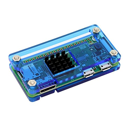 REES52 RS1951 Raspberry Pi Zero Starter Kit for Raspberry Pi Zero W and Pi Zero 1.3 (Acrylic Blue)