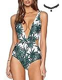 M-Queen Femme Sexy Bresilien Maillot de Bain Bandeau Push up Pad Bra Soutiens Gorge Bikini Impression Fluo Plage Bikini Set