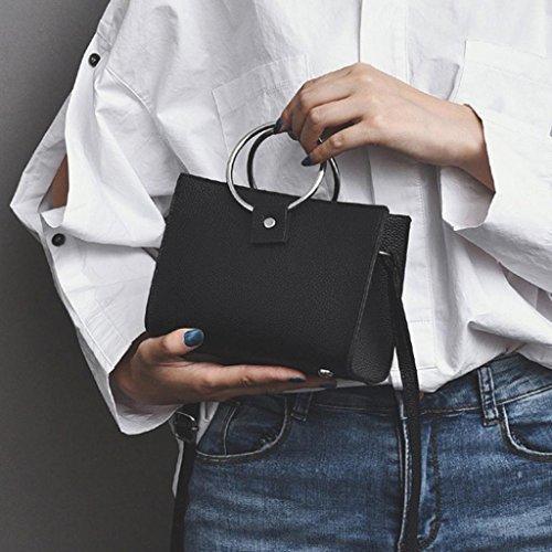 Hunpta Neue Mode Damen Schultertaschen Frauen Messenger Bag Crossbody Handtaschen Schwarz