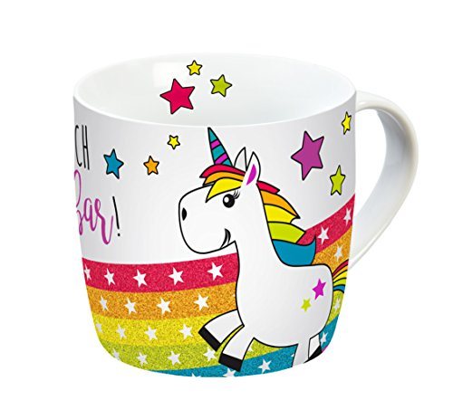 infinite by GEDA LABELS (INFKH)) Taza Unicornio Du BIST Einfach Maravillas Bar con asa, Porcelana, Multicolor, 12,5 x 9 x 8.5 cm