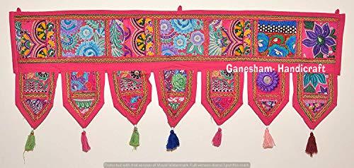 Weihnachten Deko 101,6cm Handarbeit Patchwork Fenster Tür Querbehang Toran Wand aufhängen Wohnzimmer Bohemian Indian Decor