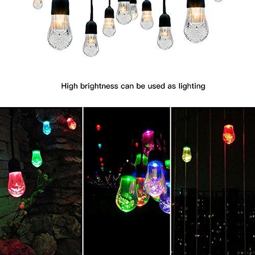 Lemonda 12 Birnen Outdoor Hoch Qualität Solar String Lights und 4.5M Verlängerungskabel IP65 Wasserdichte String Lights Lichterkette für Weihnachten Weihnachtsbaum, Schlafzimmer, Garten, Hochzeit, (Geschwister Beste Kostüme)