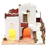 Holyart Casa araba Bianca con Scala e capanna 35x35x25 cm presepe di Napoli