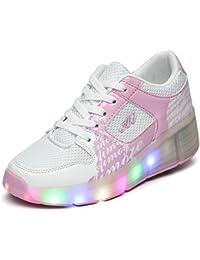 Niños Niña de adultos LED luz para patines zapatos con una rueda intermitente Zapatillas