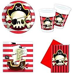Conjunto para decoración de fiesta pirata.