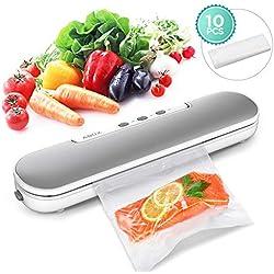 Machine Sous Vide, ABOX 4 en 1 Appareil de Mise Sous Vide Alimentaire Automatique avec 10 Sacs Sans BPA pour Aliments, Viandes, Légumes, Fruits