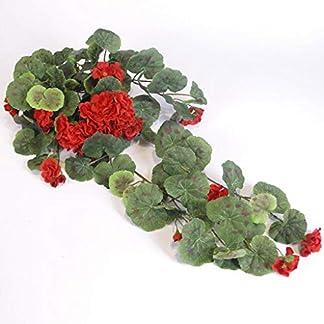 Paquete De 2 Flores De Begonia Artificiales De Ratán, Seda Hecha A Mano De Plástico Colgante Guirnalda De Flores Falsas Vine para La Boda En Casa Decoración 2pcs