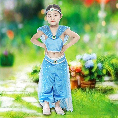 WCZ Prinzessin Jasmine Erwachsene Kinder Cosplay (Jasmine Für Erwachsene Kostüm)