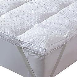 Bedecor Mikrofaser Matratzenauflage Unterbett, Matratzen-Topper, Anti-Rutsch, üppig gefüllt, extra-weich, 120 x 200 cm