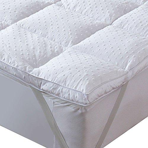 Bedecor Mikrofaser Matratzenauflage Unterbett, Matratzen-Topper, Anti-Rutsch, üppig gefüllt, extra-weich, 180 x 200 cm