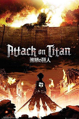 Poster Attack On Titan Manga / Anime (61cm x 91,5cm) + 1 Powerstrips®, tesa adhésifs double face-20pcs