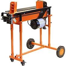 HEAVY DUTY elektrische 8t LOG Arbeitshydraulik SPLITTER Holz Ausstecher Axt TIMBER mit Ständer & DUO Klinge FM16TW