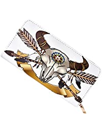 Walllet Native American Indian Art Prints Women'S Clutch Leather Long Wallet Card Holder Purse Handbag By Laime...