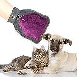 Ondoing Hunde Fellpflegehandschuh Massagehandschuh 1 stück 23*17 cm Katze Muster Lila
