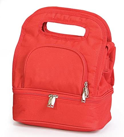 Picnic Plus-PSM-144RED Savoy Insulated Lunch Tote - Solide Red