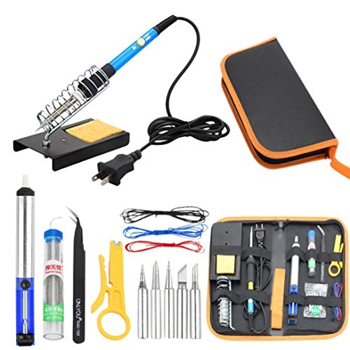 TAOtTAO Lötkolben Kit Elektronik Einstellbare Temperatur Schweißen Werkzeug Löten Set