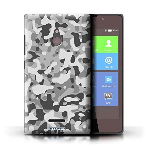 Kobalt® Imprimé Etui / Coque pour Nokia XL / Rose 3 conception / Série Armée/Camouflage Blanc 3