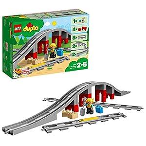 Lego Duplo- Action Brick Duplo Trains Juego de Construcción, Puente y Vías Ferroviarias, Multicolor, 2-5 Años (10872)