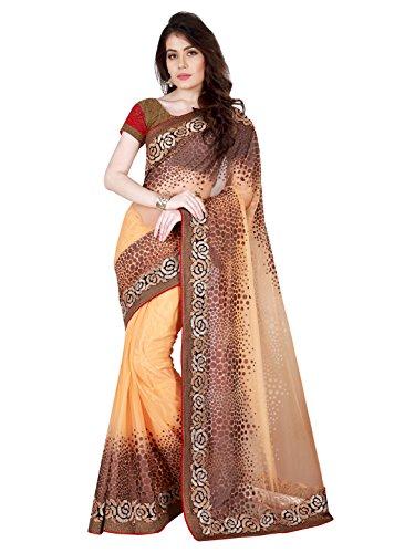 Mahotsav Net Saree (8706_Orange)  available at amazon for Rs.1925
