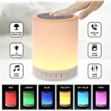 Jogger® Multi-function Wireless LED Bluetooth Speaker Touch Lamp Candle Nightlight Smart Touch Mood Lamp With SD Card Slot / AUX Input, With Microphone To Connect Calls.Compatible With All Bluetooth Devices With Built In Mic, Sd Card, Aux, 3.5 Mm In J