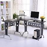 Mesas de Ordenador 165x145x86cm Oficina PC Torre Mesa Escritorio Estudio NUEVO