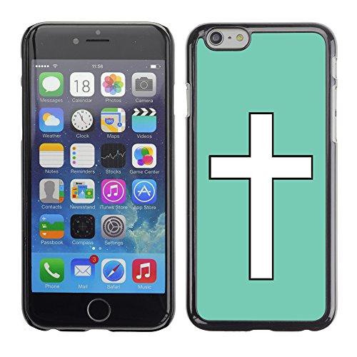 Graphic4You Kreuzr Design Harte Hülle Case Tasche Schutzhülle für Apple iPhone 6 / 6S (Gelb) Aqua Blau
