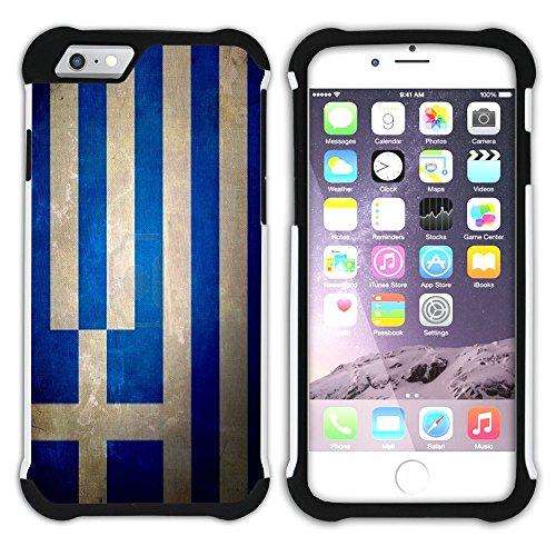 Graphic4You Vintage Uralt Flagge Von Finnland Finnisch Design Hart + Weiche Kratzfeste Hülle Case Schale Tasche Schutzhülle für Apple iPhone 6 / 6S Griechenland Griechisch