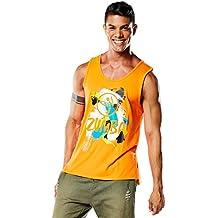 Zumba Fitness Mens Rio Tank - Camiseta para hombre, color naranja, talla XL