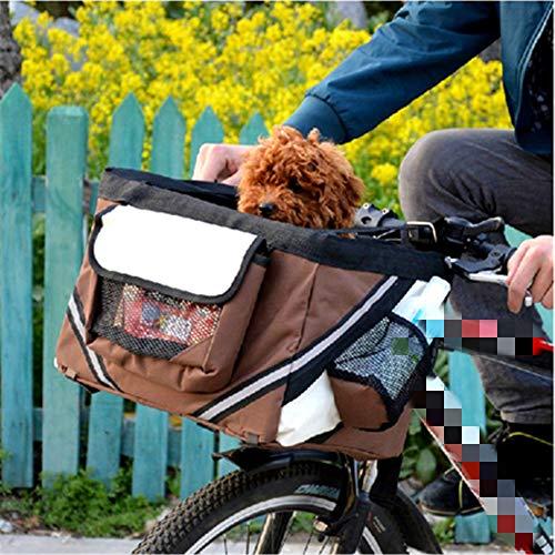 QZQWANA Haustier Fahrradkorb Träger Fahrrad Hundeleine Auto Faltbare Transporttasche Tragen Reisesitz Für Welpen Katze Tier