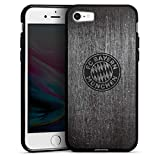 DeinDesign Apple iPhone 8 Silikon Hülle Case Schutzhülle Metall Look FC Bayern München Fanartikel Merchandise