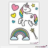 detailverliebt! Super süße Aufkleber Einhorn, dv_097, für den Roller, das Auto, Fahrrad, Notebook, PC, Aufkleber, Sticker, rosa, pink, Mädchen,