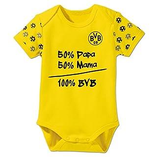 BVB Kinder Babybody, gelb/schwarz, 62/68, 2466551