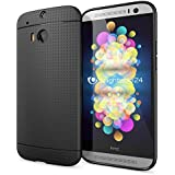 delightable24 Protective Case TPU Silicone Mesh Design HTC ONE M8 / M8S Smartphone - Mesh Black
