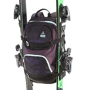 Wedze Rucksack für Skifahren & Snowboarding, mit Gurten für Ski/Snowboard