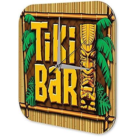 Orologio da parete Tiki bar Plexiglas Acrillico Stampato - Tiki Bar Della Decorazione Della Parete