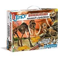 Clementoni 13812 - Focus Junior Archeogiocando Smilodon & Mammuth