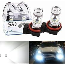 S & D 2x h11lampadina LED auto Fendinebbia Luce di marcia diurna–100W DC 12V 6000K Xenon Bianco - Toyota Corolla Luce Di Parcheggio