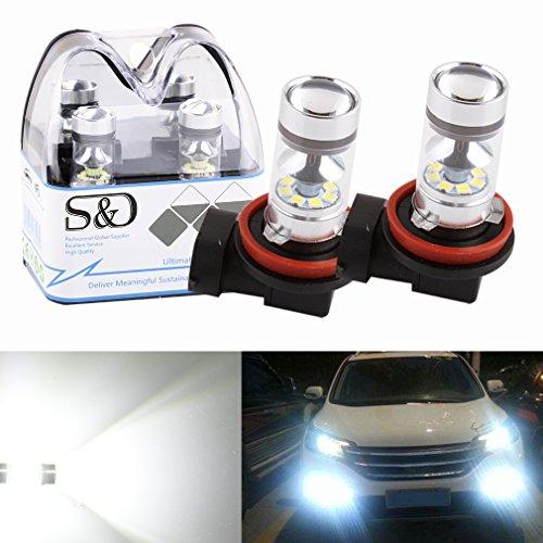 Universal-dc-batterie Eliminator (S&D, Nebelscheinwerfer, 2x 100 W, H7 LED-Leuchtmittel, DC 12 V~24 V, 360 Grad, 20 SMD-Cree, weißes Licht)