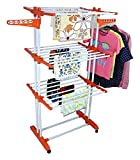 #7: Synergy™ - Heavy Duty Double Pole Cloth Drying Stand (Lifetime Warranty) - (SY-CS9)