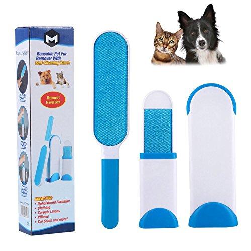 MEGON Magic Pet Fell- und Flusenentferner mit selbstsäubernder Basis. Doppelseitige Bürste entfernt Hunde- und Katzenhaare von Kleidung, Möbeln, - Haustier-haar-möbel-entferner