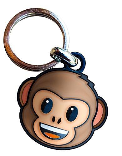 Metal Keyring Emoticon Monkey