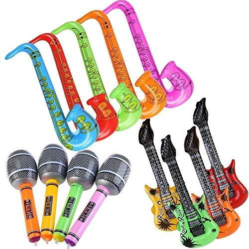 EPRHY - Globos hinchables para Guitarra y saxofón, Accesorios para Instrumentos Musicales (12 Unidades), Color al Azar