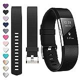 Bracelet Fitbit Charge2, bracelet de remplacement multicolore pour Fitbit Charge2, 03-Black